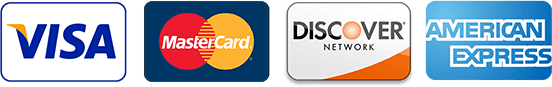 Accepting Visa, MasterCard, Discover, and American Express